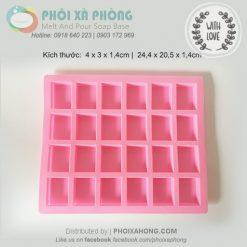 Khuôn silicon 24 hình chữ nhật