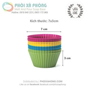 Khuôn Silicon 01 Cupcake