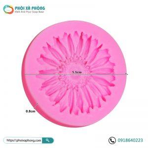 Khuôn Silicon Đơn 3D Hình Hoa Cúc 5cm Trang Trí Xà Phòng/Bánh