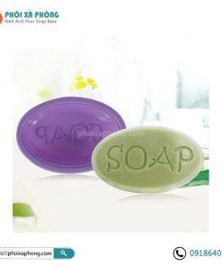 """Khuôn Silicone Làm Xà Phòng Hình Oval Chữ """"SOAP"""""""
