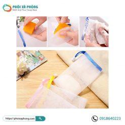 Túi Lưới Dây Rút Tạo Bọt Xà Phòng (Soap Foaming Mesh Bag)