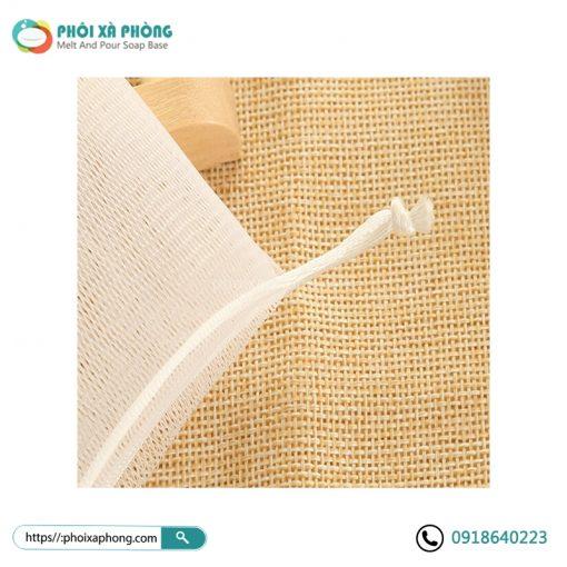 Túi Lưới Tạo Bọt Xà Phòng Dây Rút Gút (Soap Foaming Mesh Bag)