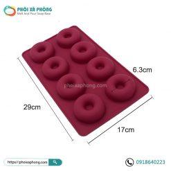 Khuôn Silicon Hình 8 Donut Trơn