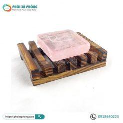 Khay đựng xà phòng handmade bằng gỗ Vintage