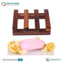 Khay Đựng Xà Phòng Bằng Gỗ Vintange 9*7cm (Soap Tray)