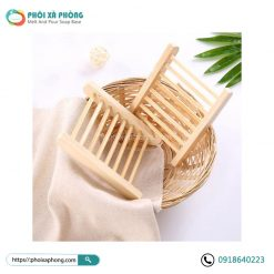Khay Đựng Xà Phòng Bằng Gỗ Tre (Thanh Song) - Natural Wood Soap Tray Holder Bathroom
