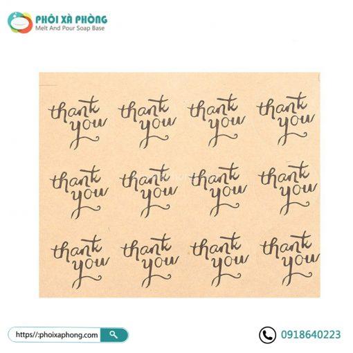 Bộ Sticker Chữ Thank You 12 Cái