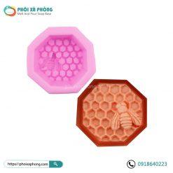 Khuôn SIlicon Đơn Hình Tổ Ong (Một Con Ong)