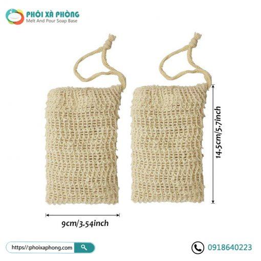 Túi Đựng Xà Phòng Tẩy Tế Bào Chết | Natural Sisal Soap Bag Exfoliating Soap Saver Pouch Holder