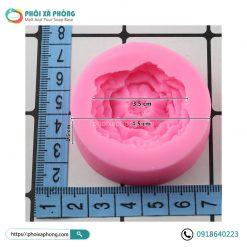 Khuôn Silicon Hoa Mẫu Đơn 3D Mini 3.5cm Trang Trí Xà Phòng